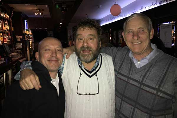 Brendan Grace and Customers in The Sliding Rock Bar, Galway
